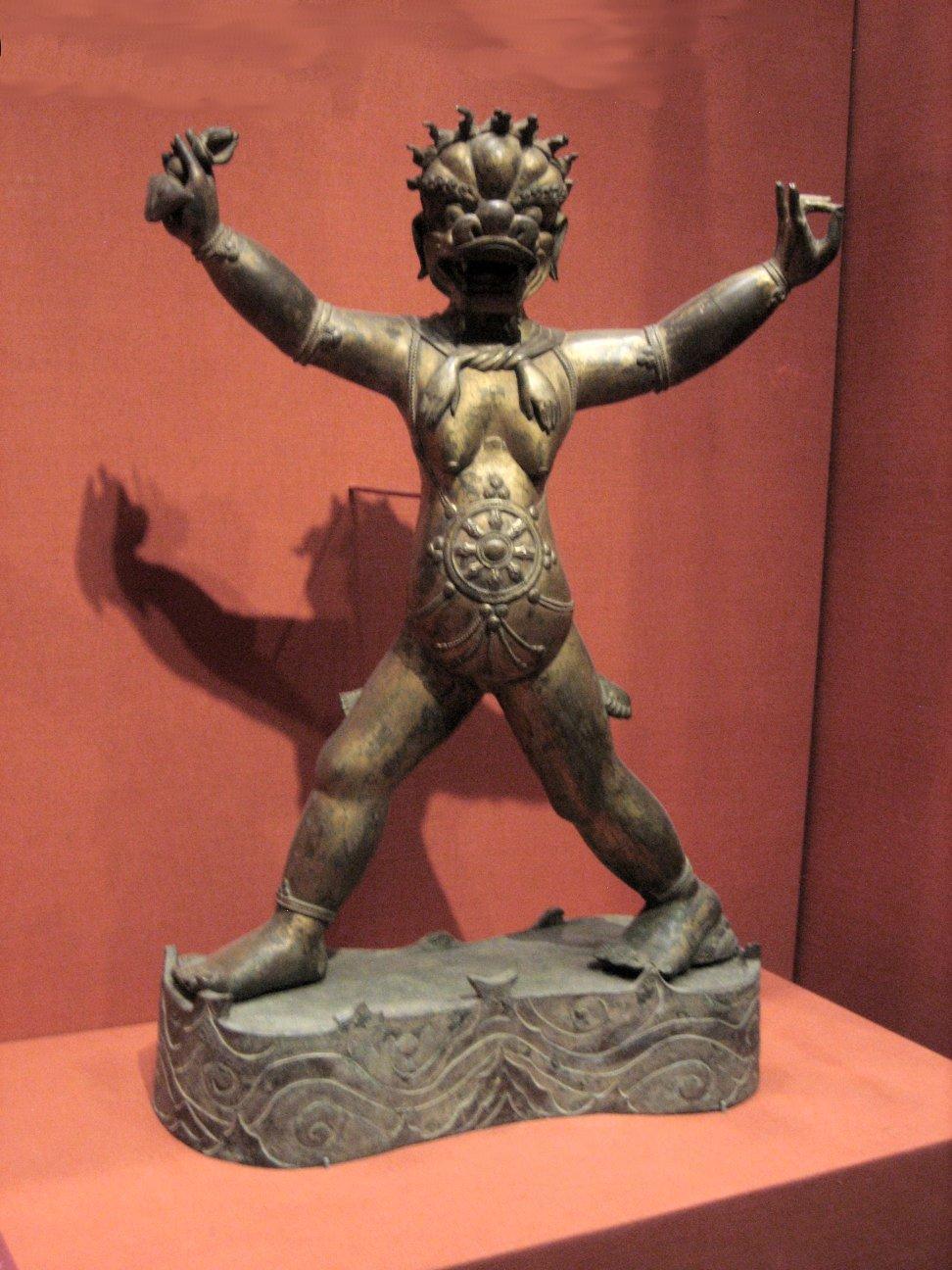 File:'The Buddhist deity Simhavaktra Dakini', c  1600-1700