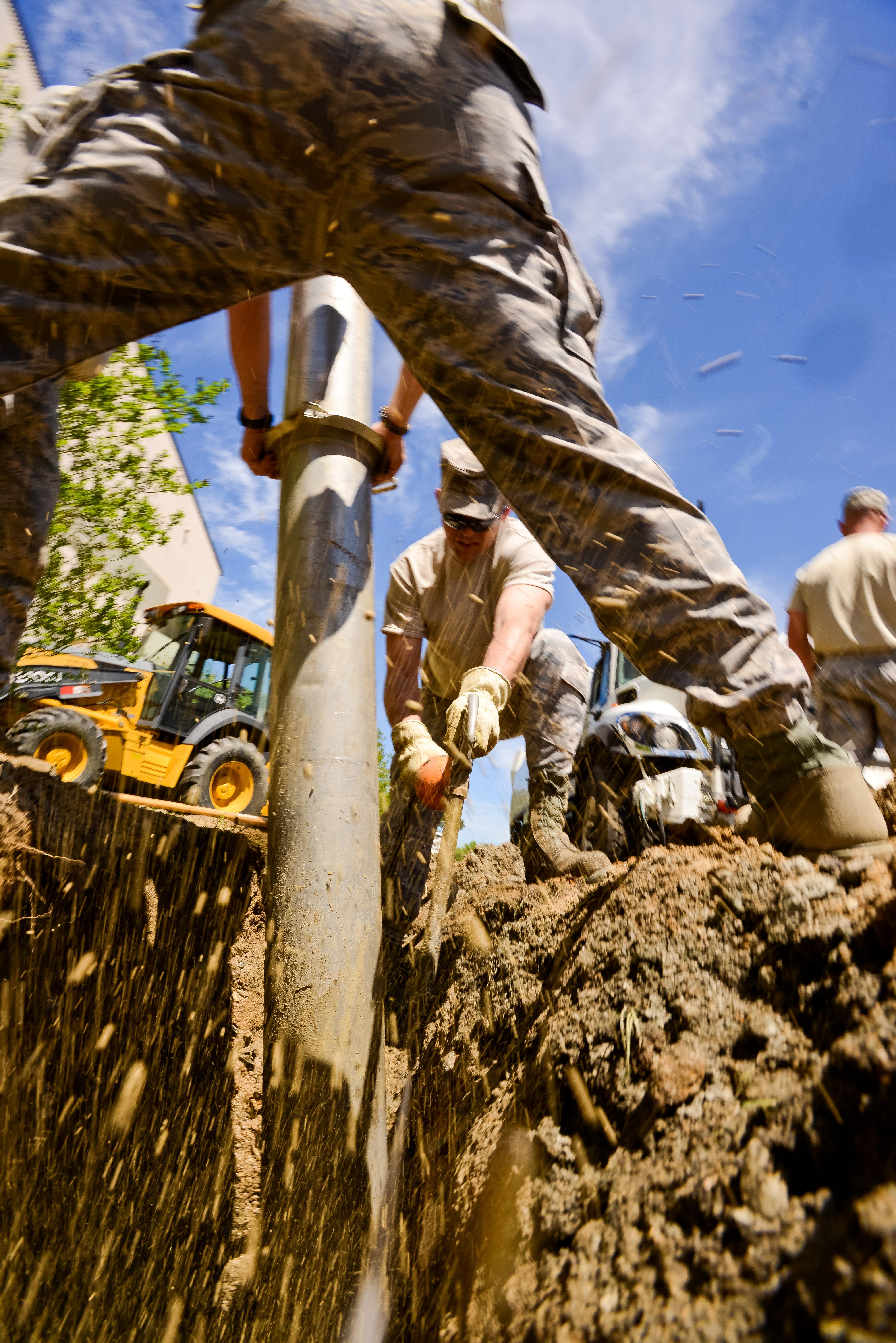File:116th Civil Engineering Squadron repair drainage