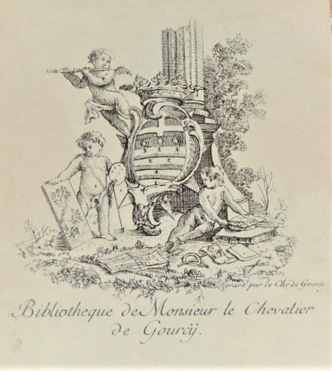 File 1748 Ex Libris D Un Chevalier De Gourcy Par Lui Meme Jpg Wikimedia Commons