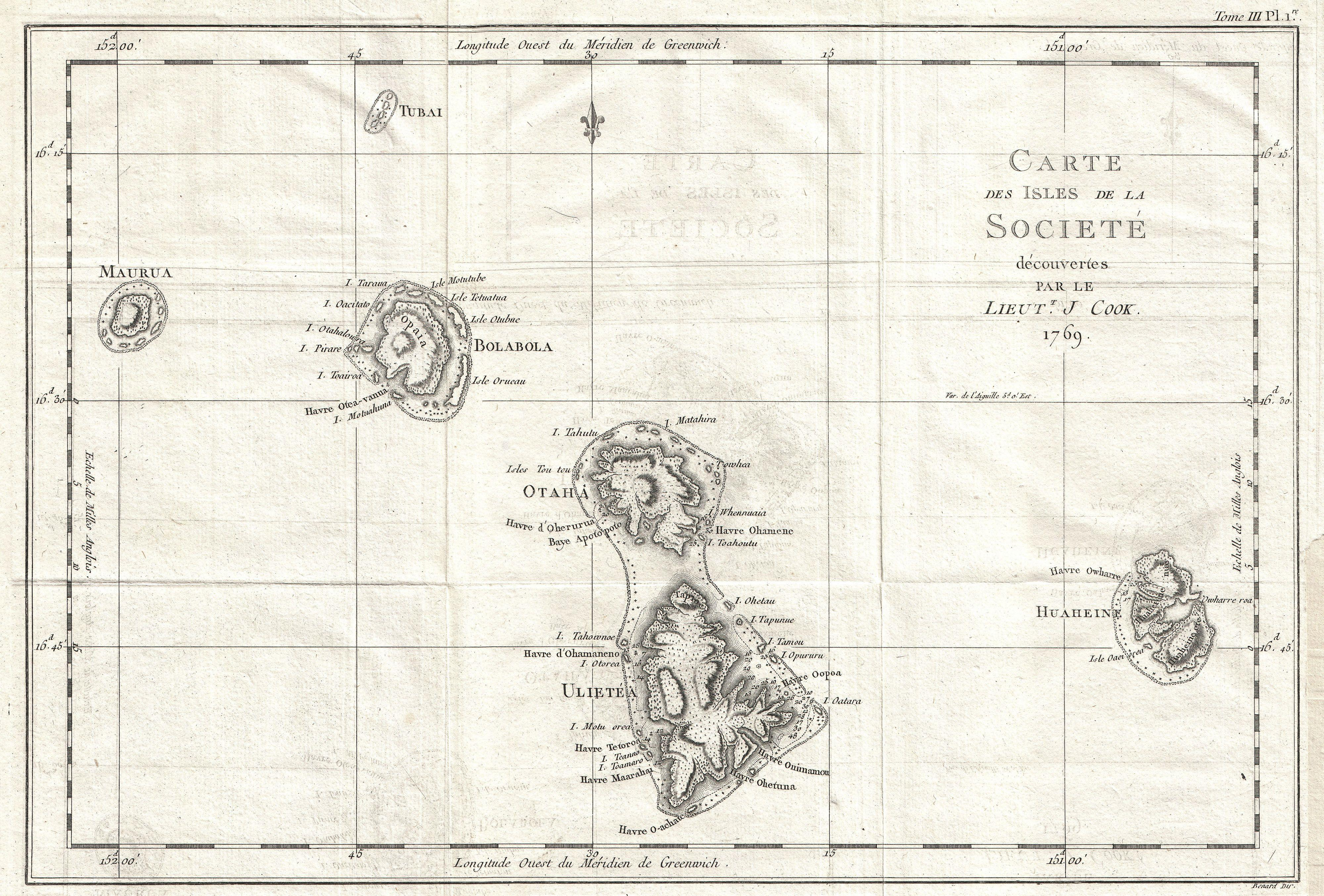File:1769 Cook Map of the Society Islands - Geographicus -  SoecityIsland-cook-