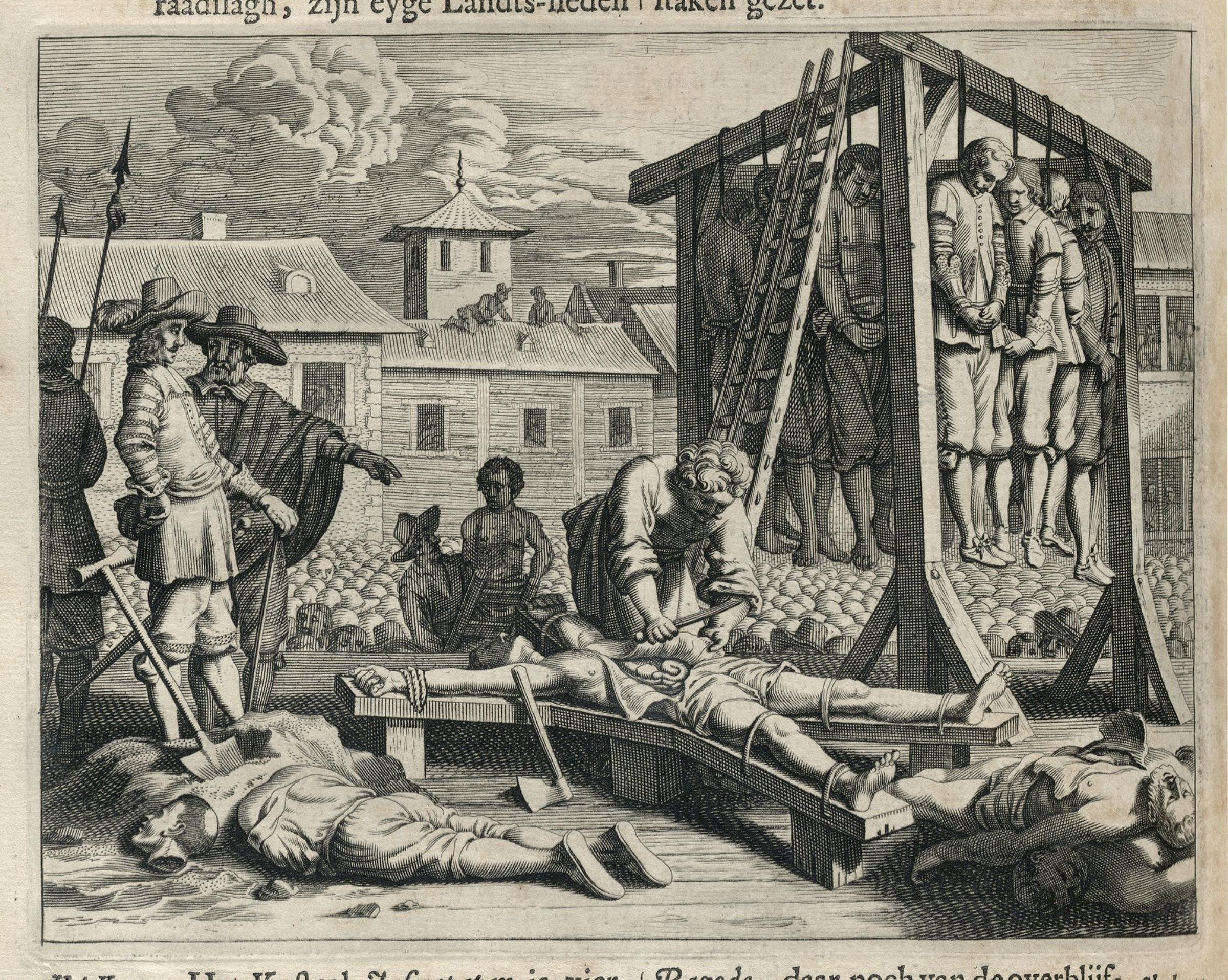 File:AMH-6994-KB Traitors in Jaffnapatnam being executed in 1658.jpg
