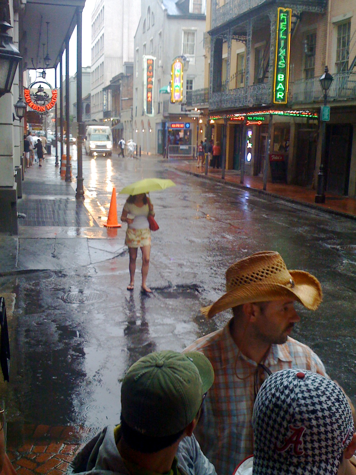 File:A rainy day on Iberville Street, New Orleans Umbrella.jpg - Wikimedia Commons