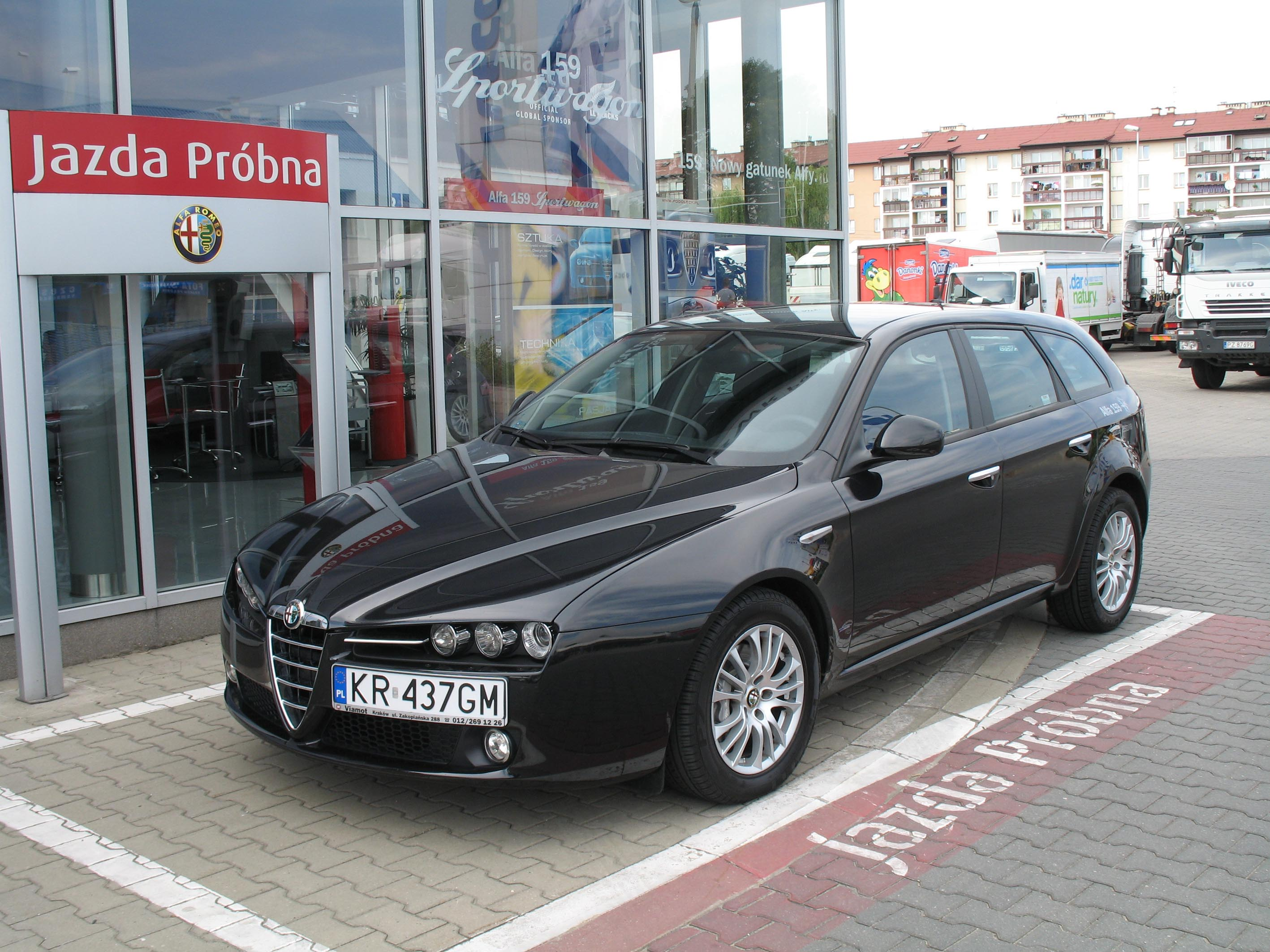 File Alfa Romeo 159 Sportwagon 1 9 Jtd Do Jazd Probnych Jpg Wikimedia Commons