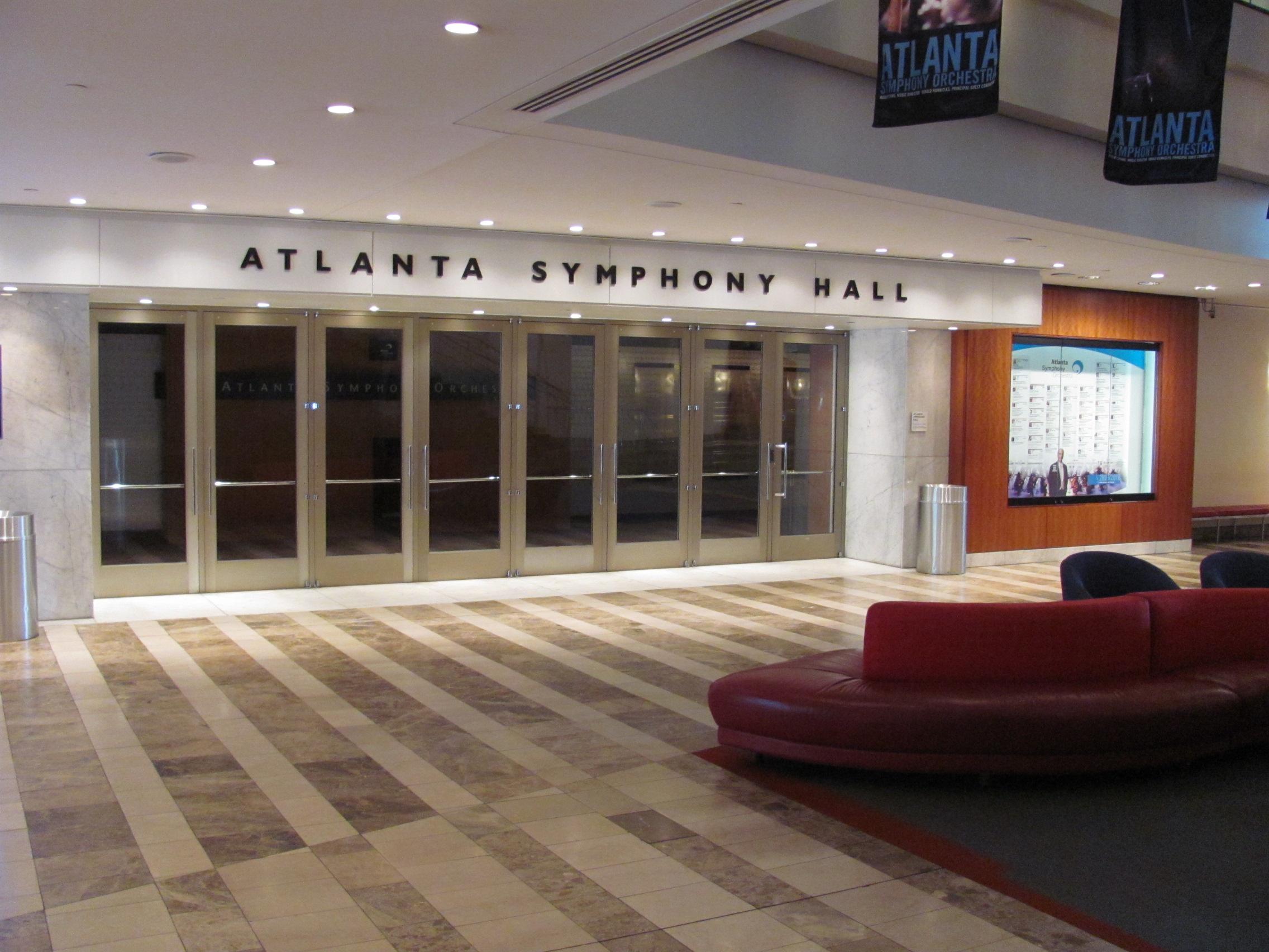 File Atlanta Symphony Hall lobby Midtown Atlanta GA