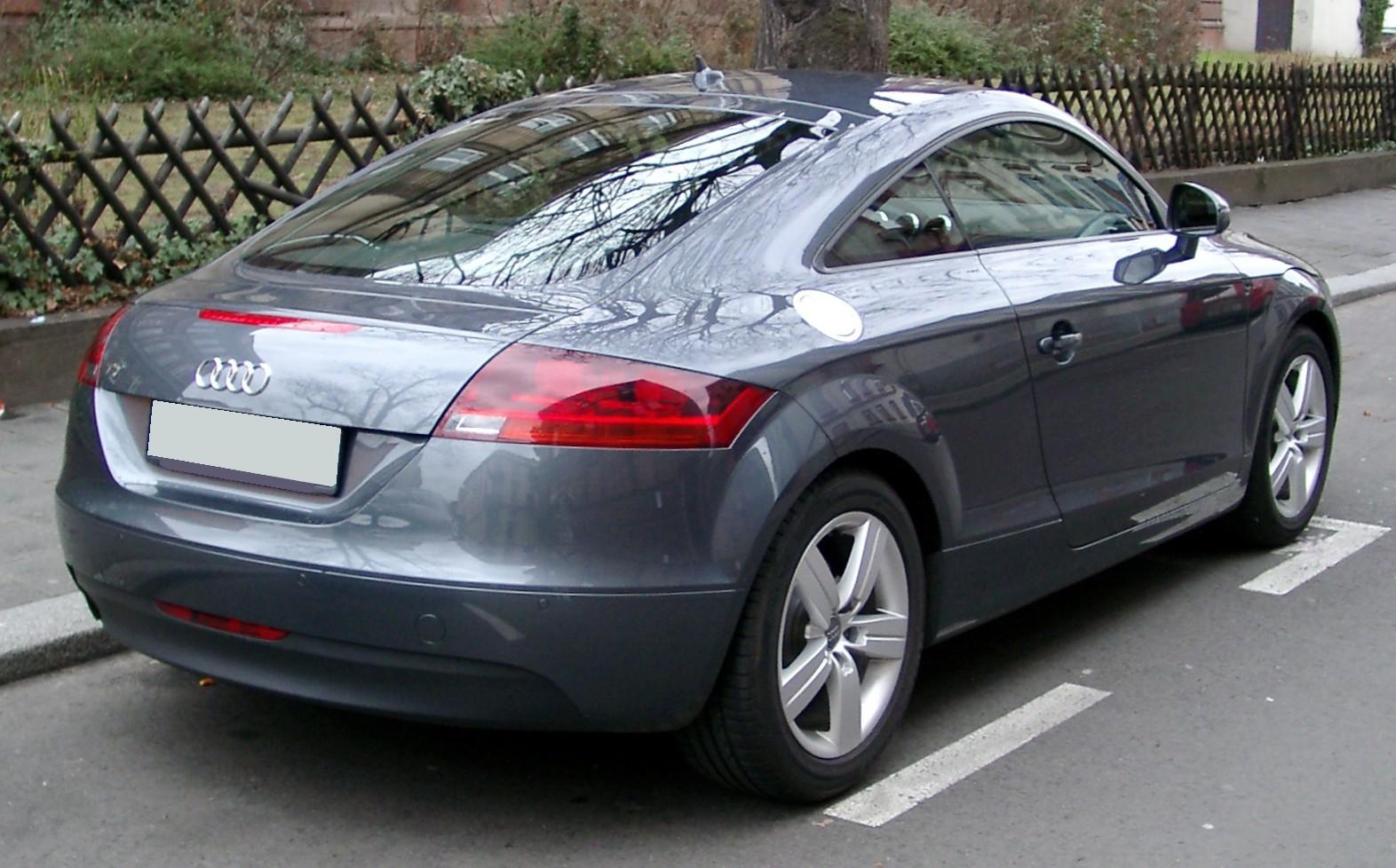 File Audi Tt Rear 20080118 Jpg Wikimedia Commons