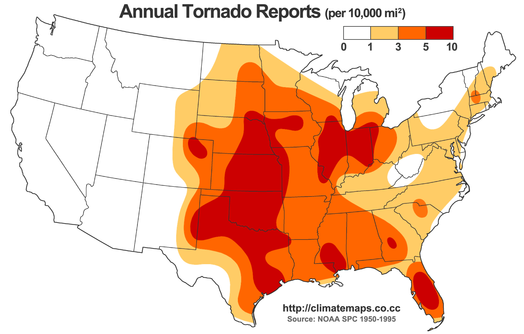 Map Of Tornado Alley Us http://www.city-data.com/forum/city-vs-city/1513917-most-tornado-prone-areas-u-s.html