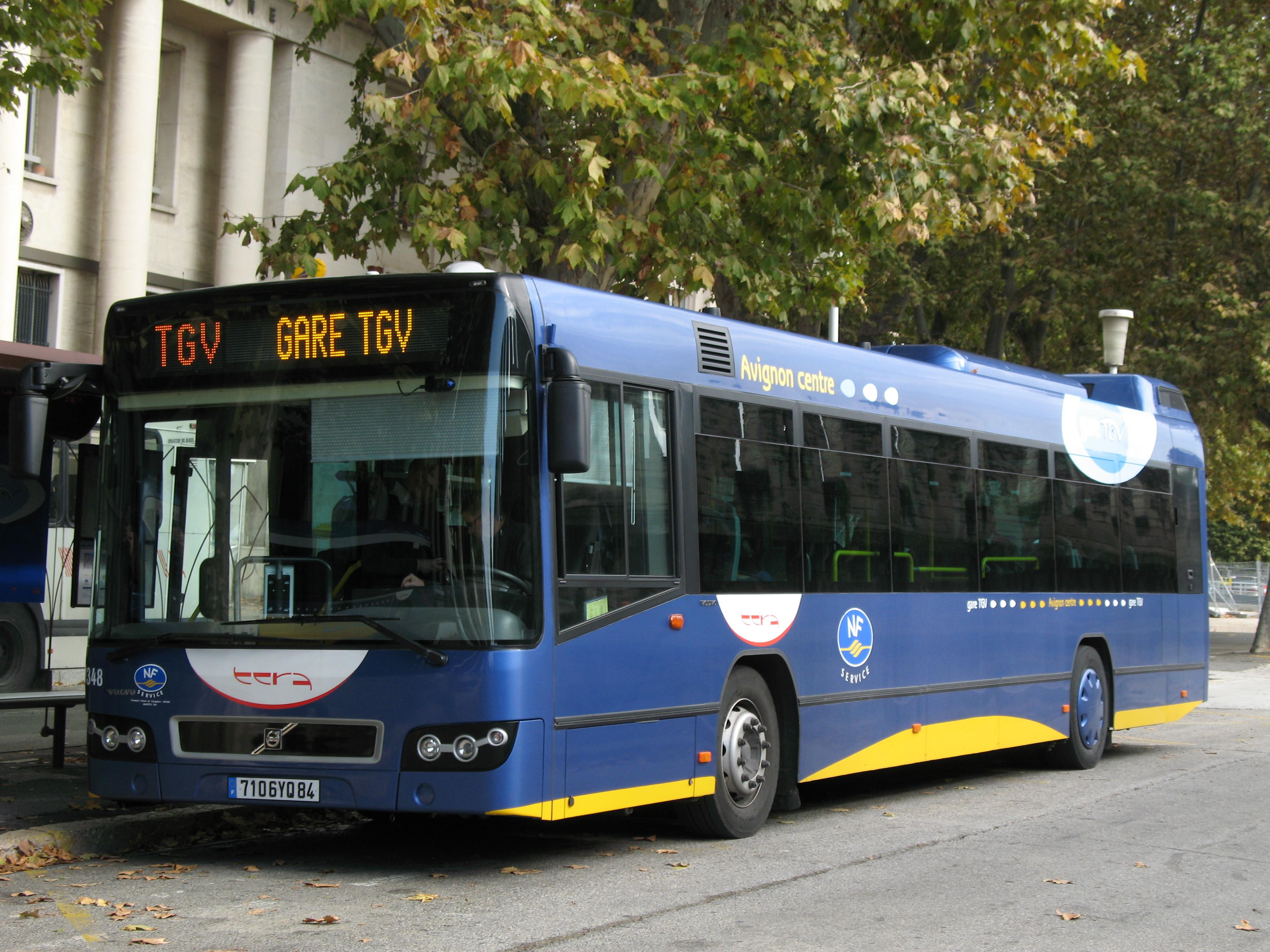 File avignon tcra volvo 7700 n 93348 navette tgv poste 9 - Ligne bus avignon ...