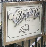 Bar sign for Cheers (Boston, MA - 2005).jpg