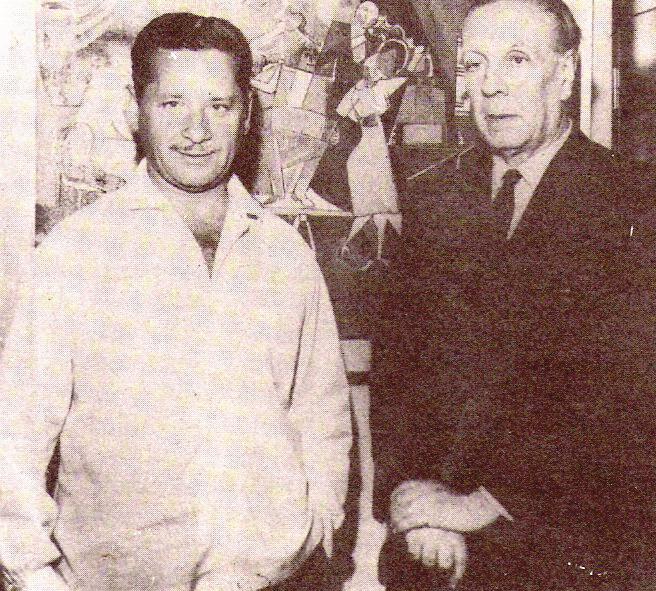 Molar con el escritor argentino Jorge Luis Borges.