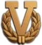 "Bronze ""V"" with wreath device for fourth award"