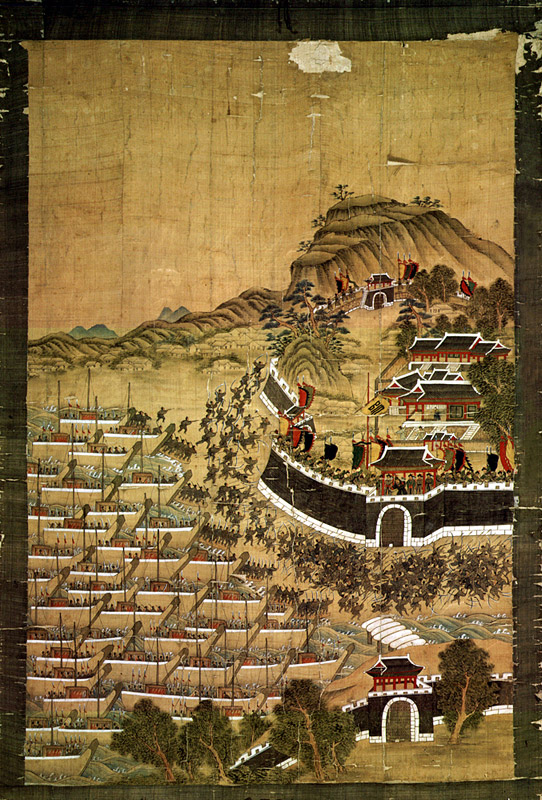 Painting of defense of Busanjin Fortress