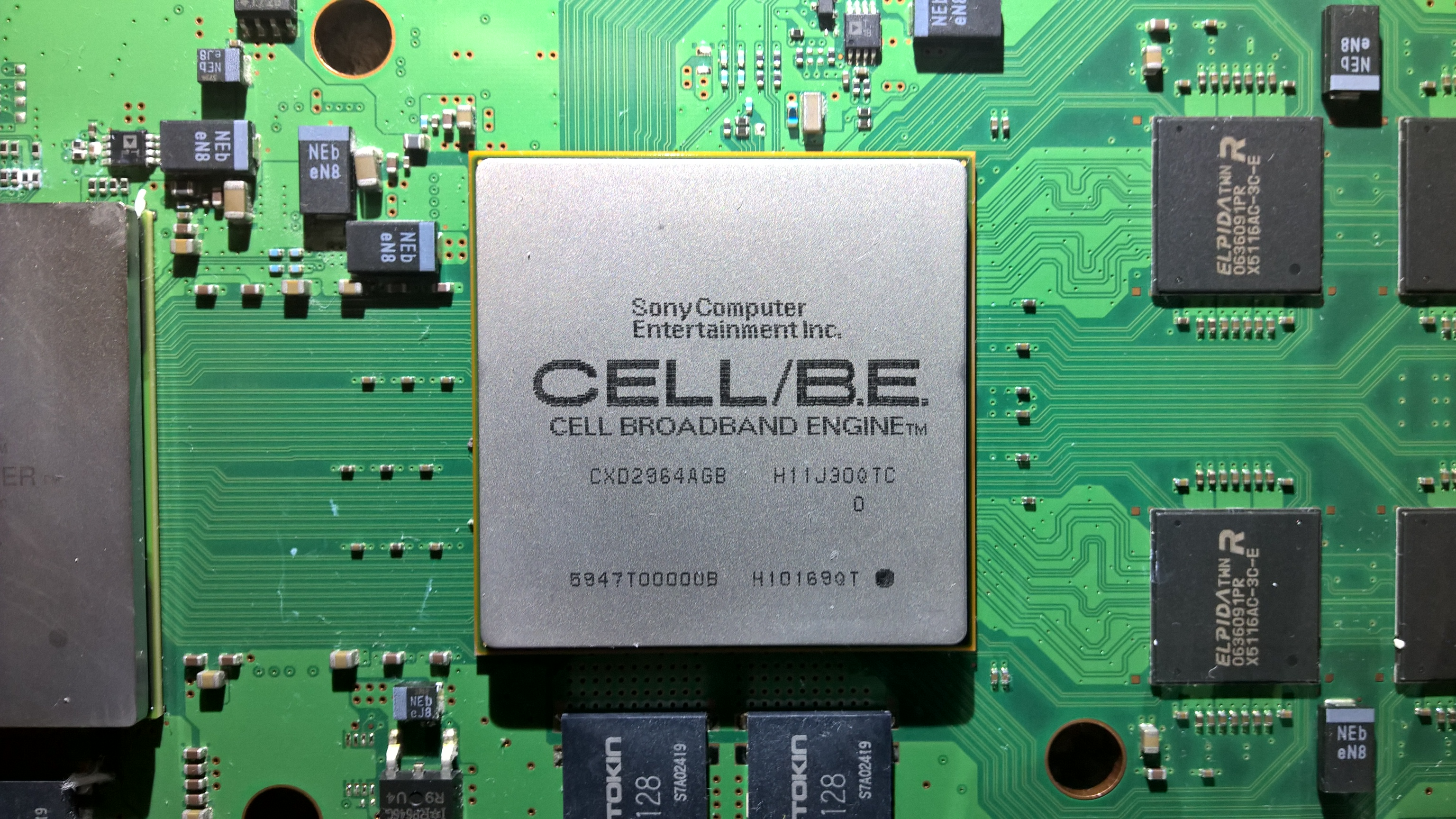 File:CELL BE processor PS3 board.jpg - Wikimedia Commons