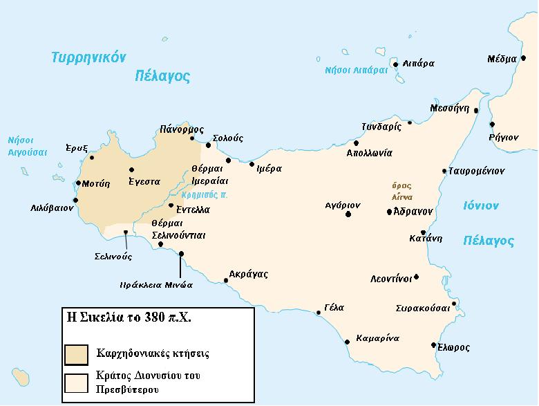 Carte Sicile el 380 BC