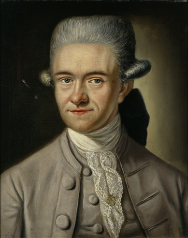 Christoph Meiners; portrait by [[Johann Heinrich Tischbein the Younger]] (c. 1772)