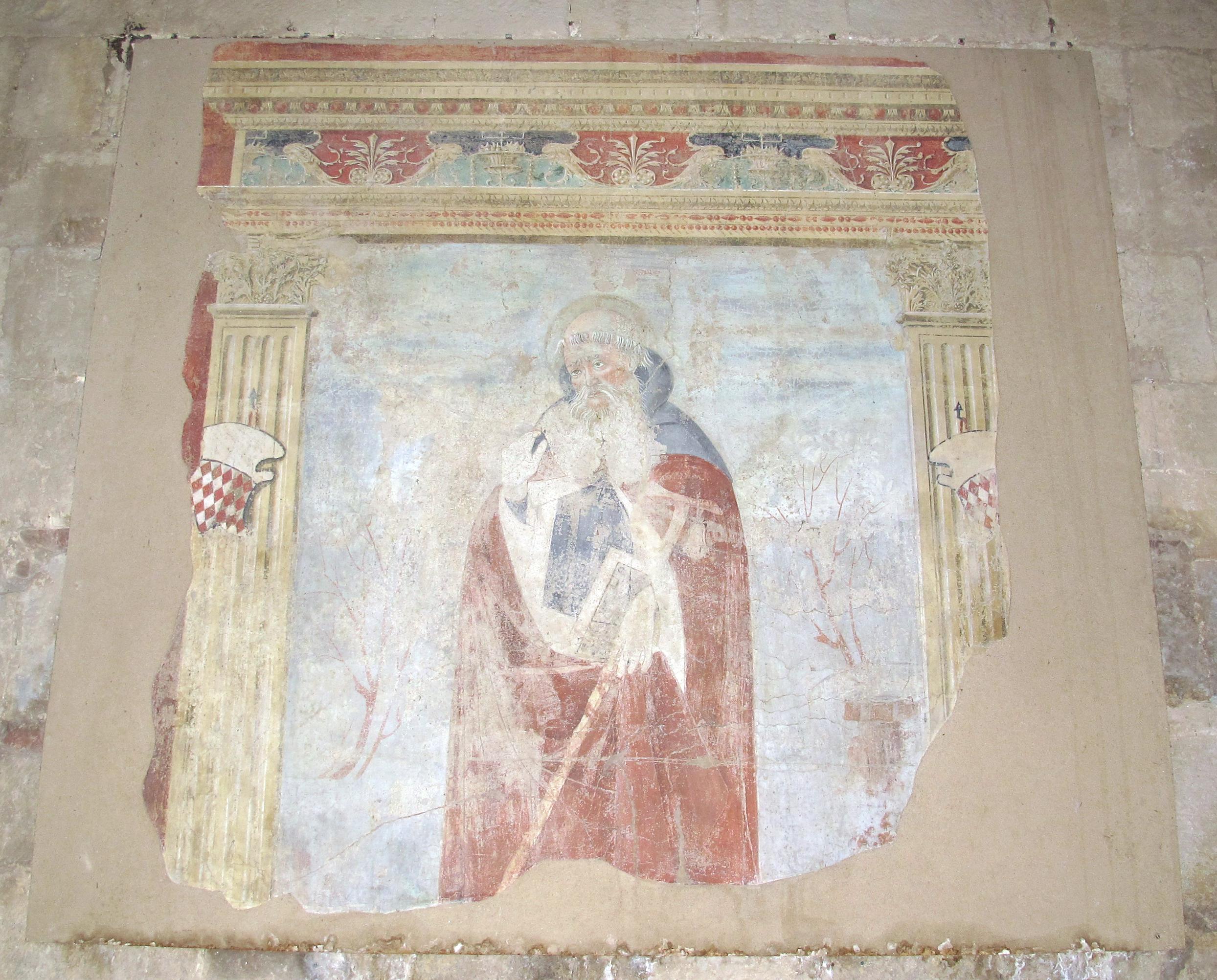 Colle, santa maria in canonica, int. 04 affresco.JPG