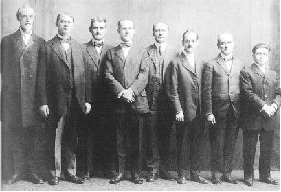 Watch Tower Board of Directors jailed in 1918 for violation of the Espionage Act Consiglio Direttivo - 1918.JPG