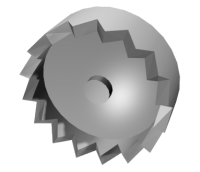 An illustration of a crown gear
