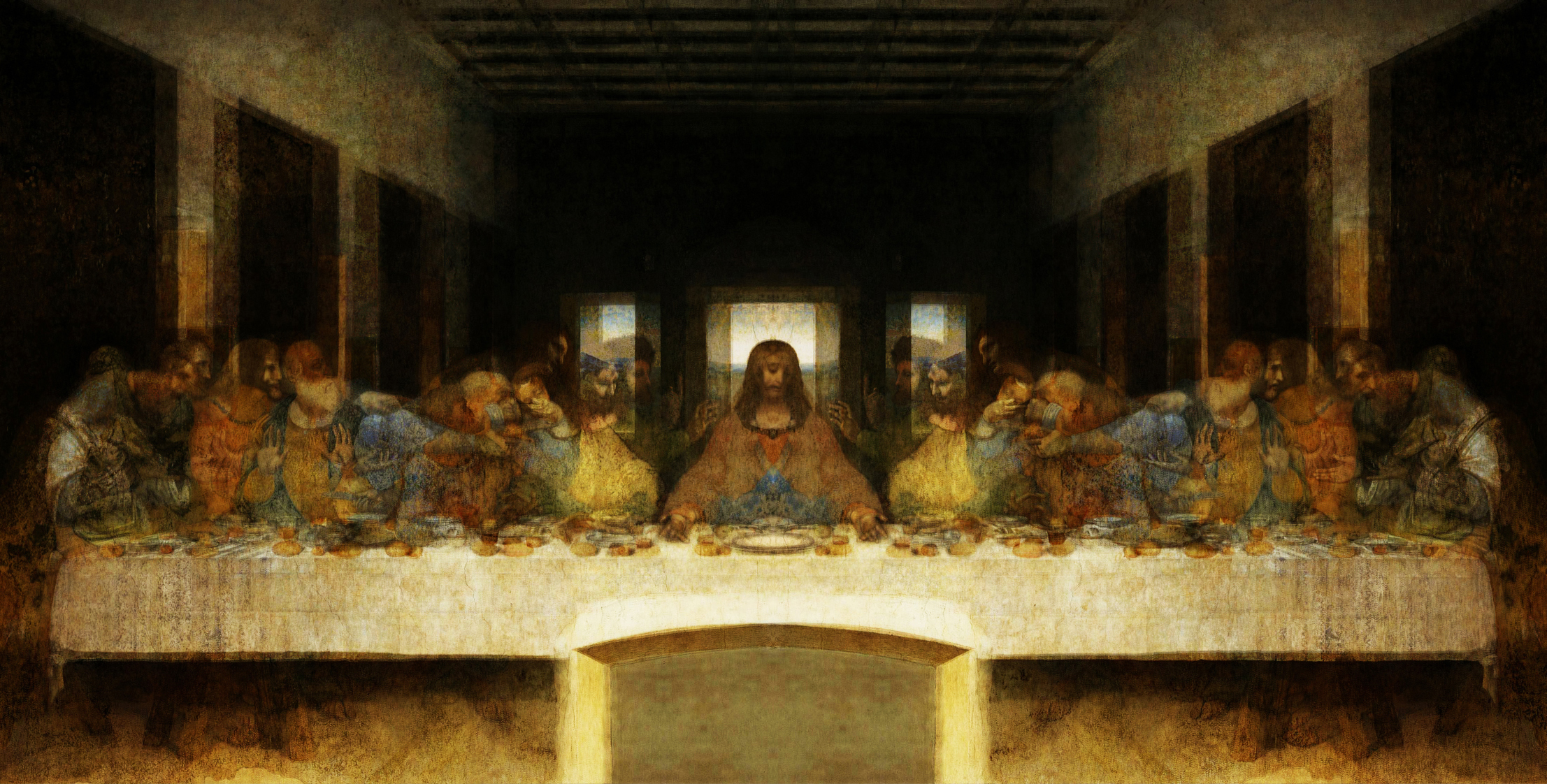 WoW! Hidden Image Exposed in The Last Supper Painting ... Da Vinci Last Supper Original