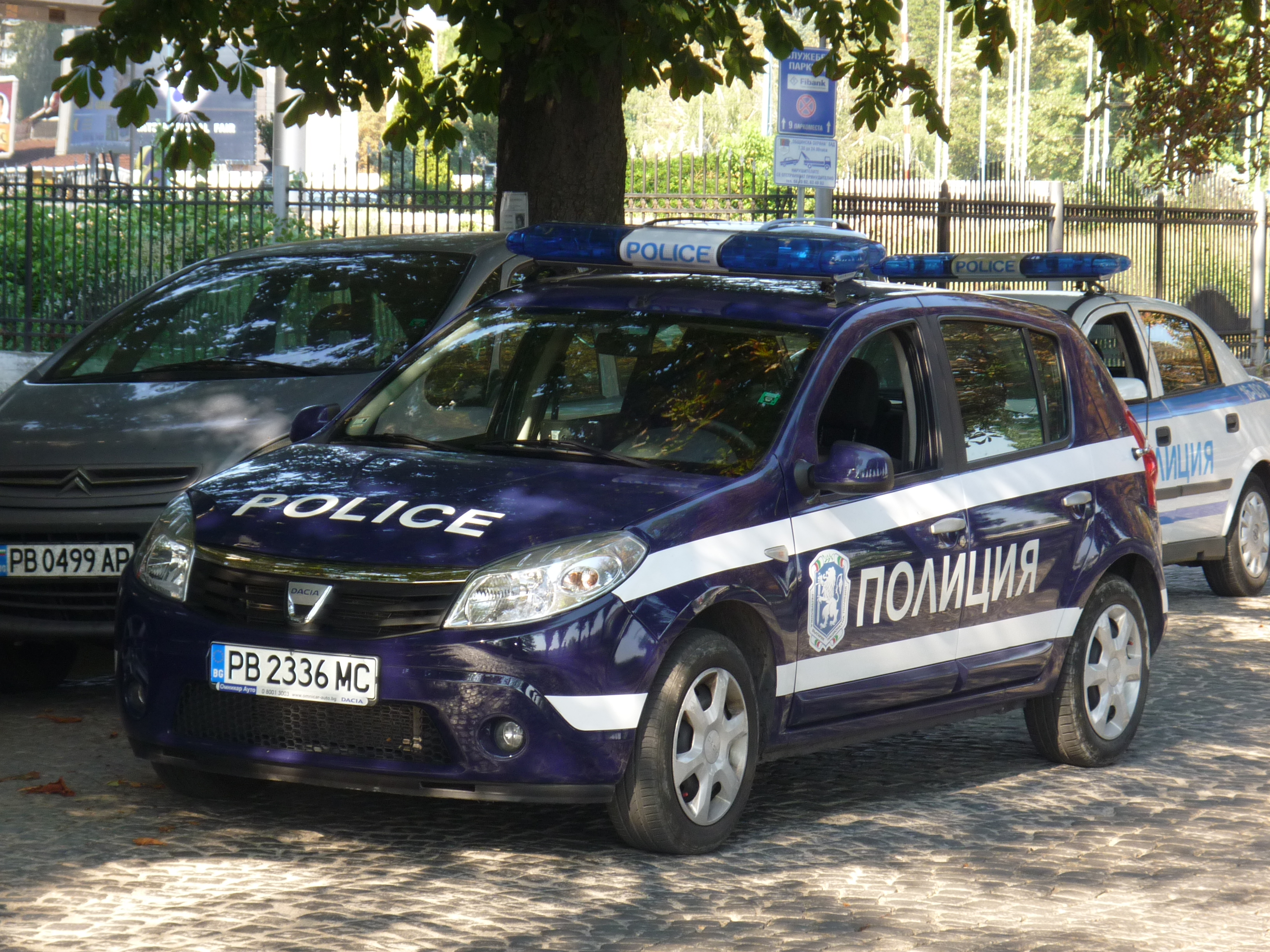 file dacia sandero police car plovdiv bulgaria jpg. Black Bedroom Furniture Sets. Home Design Ideas