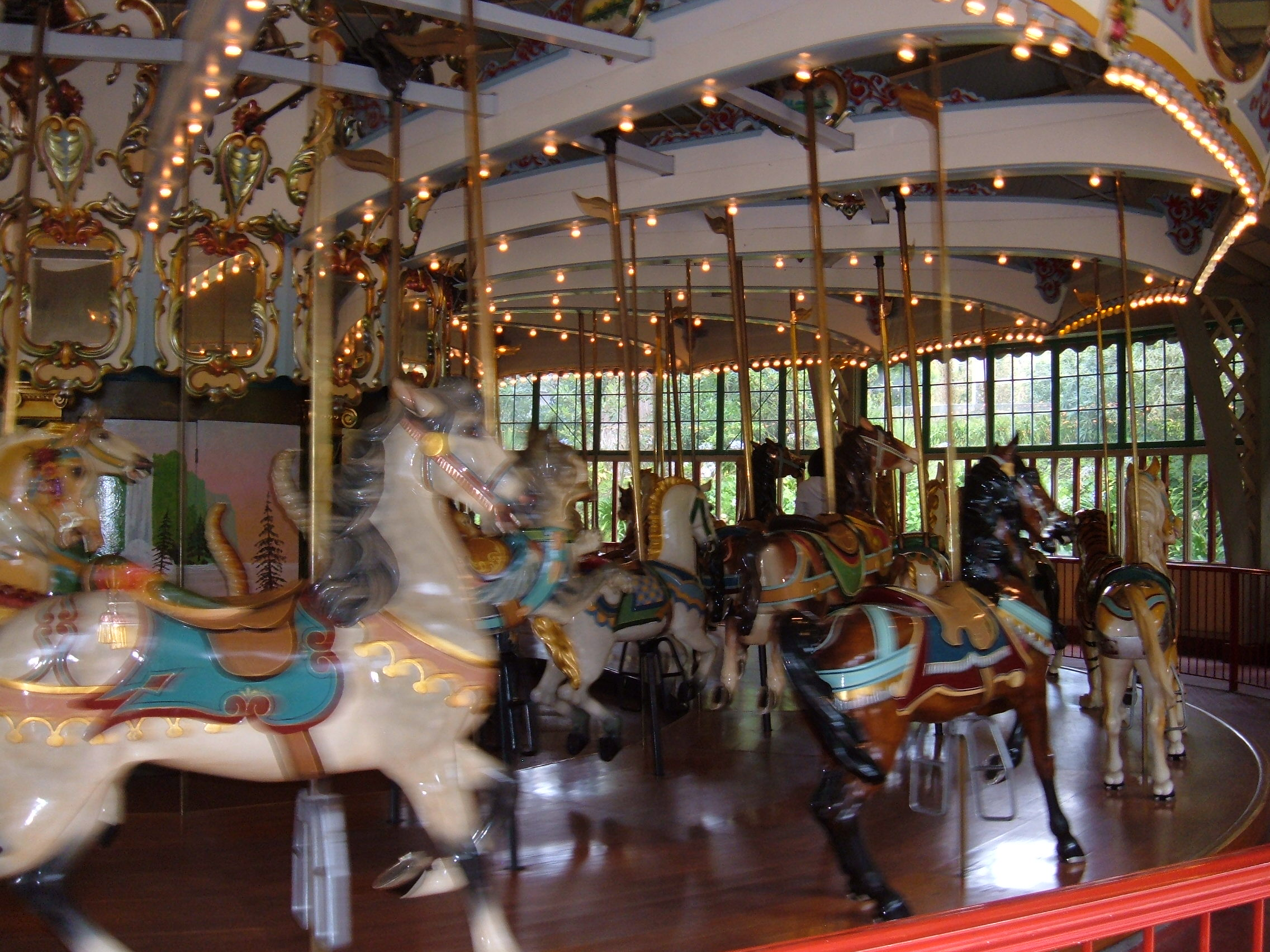 Dentzel Carousel at SF Zoo interior 10