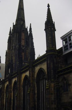 The Hub on the Royal Mile, the former Tollbooth Kirk is the headquarters of the Edinburgh International Festival
