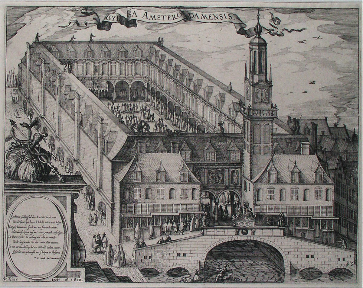 File engraving depicting the amsterdam stock exchange for Architecture firms in netherlands