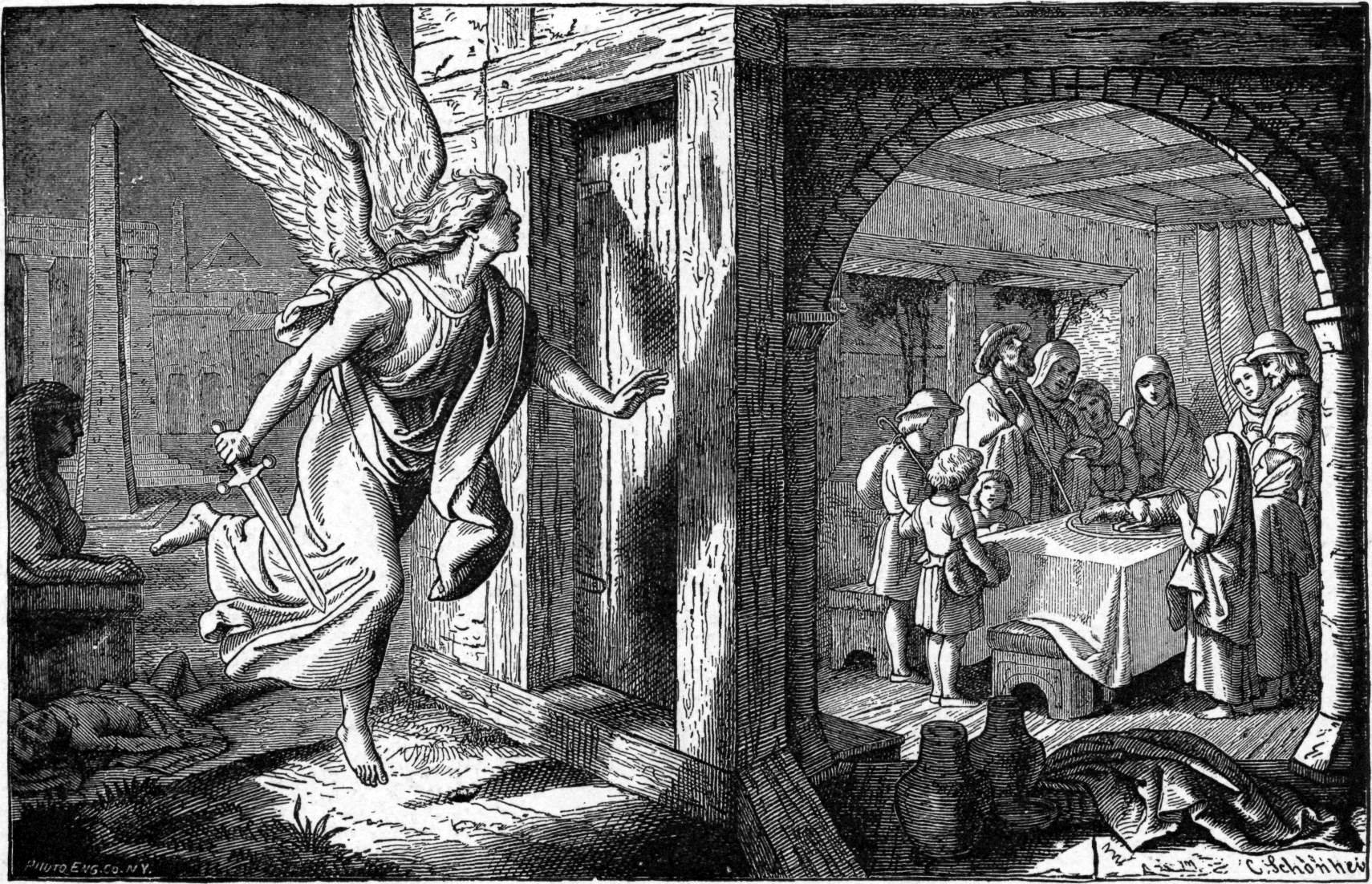 Description Foster Bible Pictures 0062-1 The Angel of Death and the