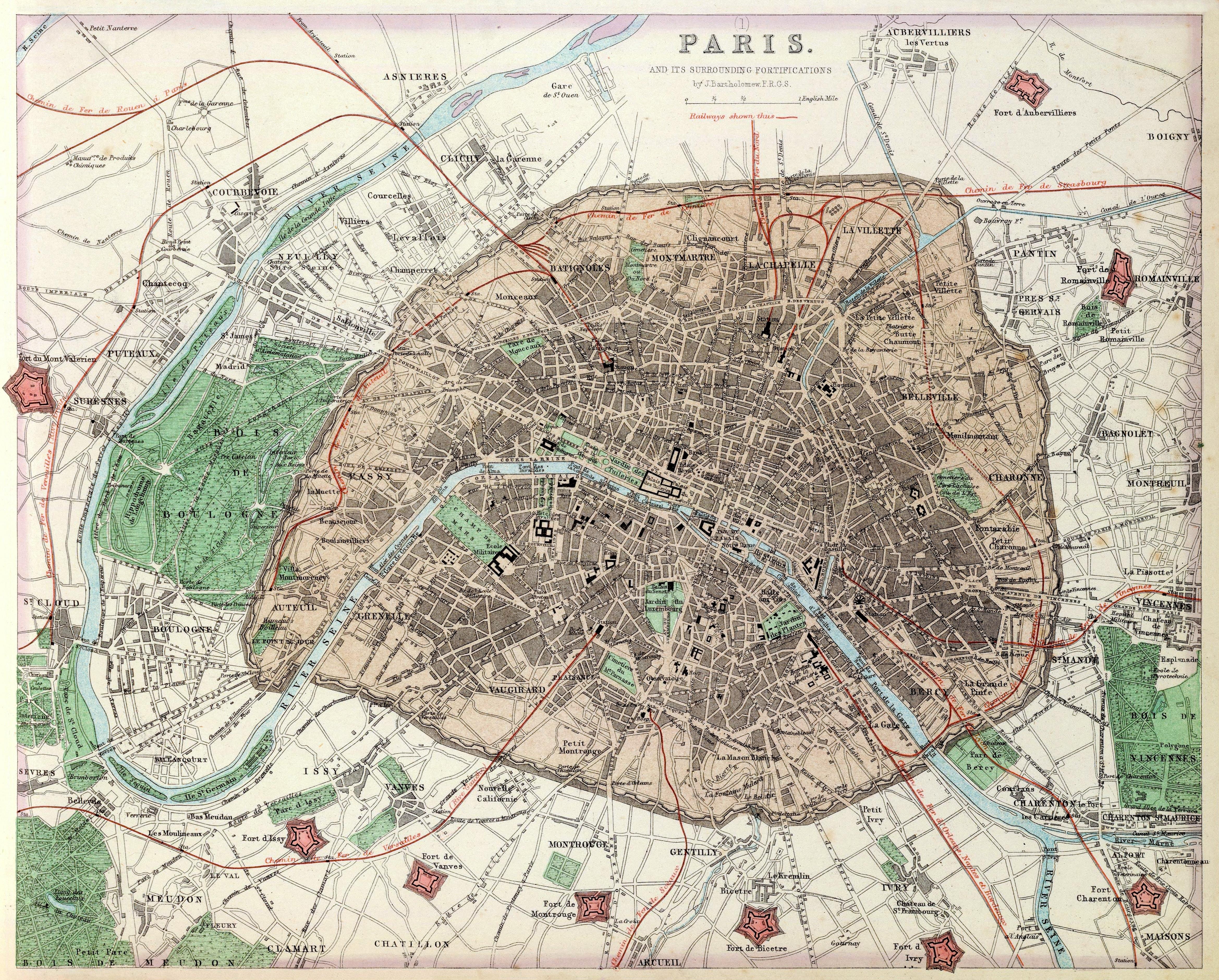 File:Fullarton, Paris and its surrounding fortifications, 1872 ...