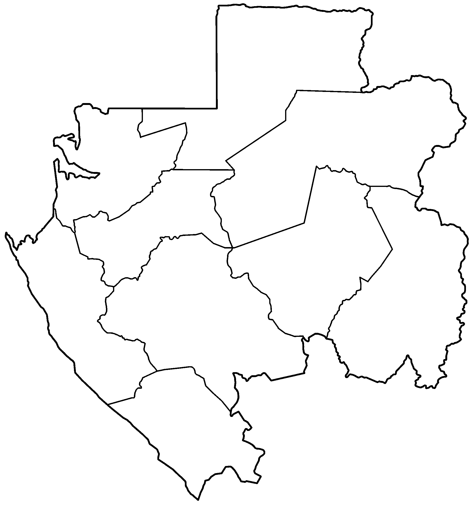 FileGabon Provinces Blankpng Wikimedia Commons - Gabon blank map