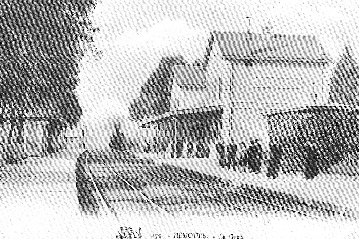 File gare de nemours carte postale wikimedia commons - Office du tourisme nemours ...