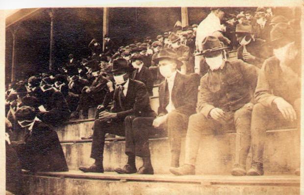 football game during 1918 flu