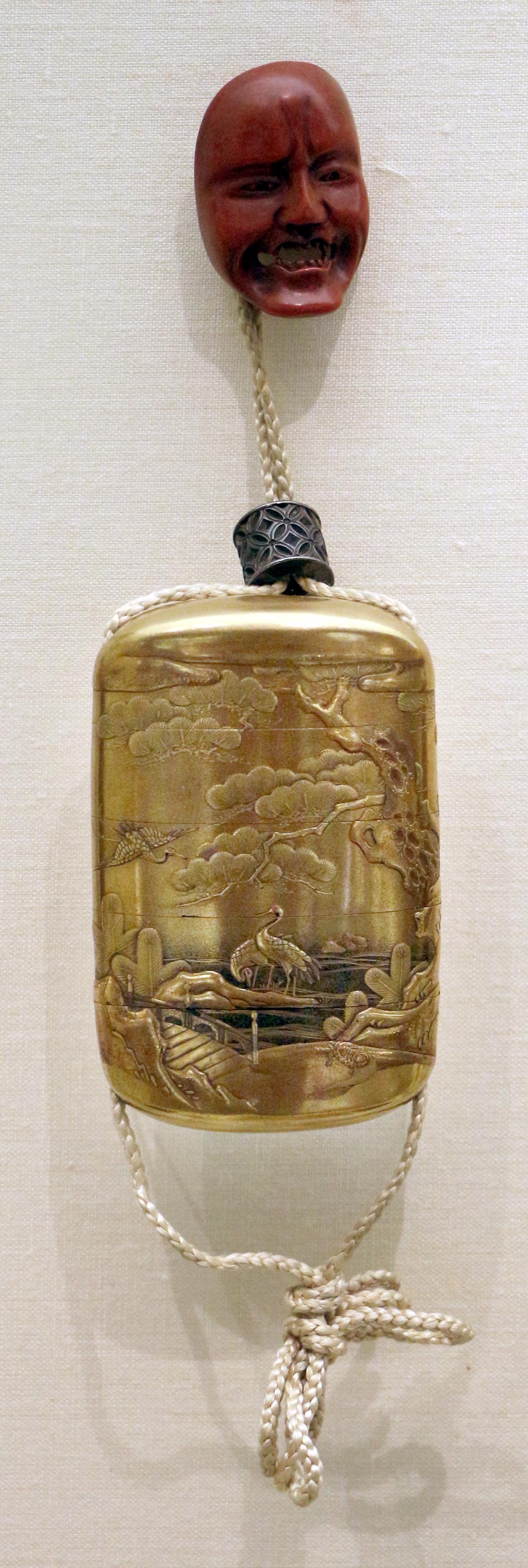 File:Giappone, inroo in lacca, periodo edo, 04 aironi e ...