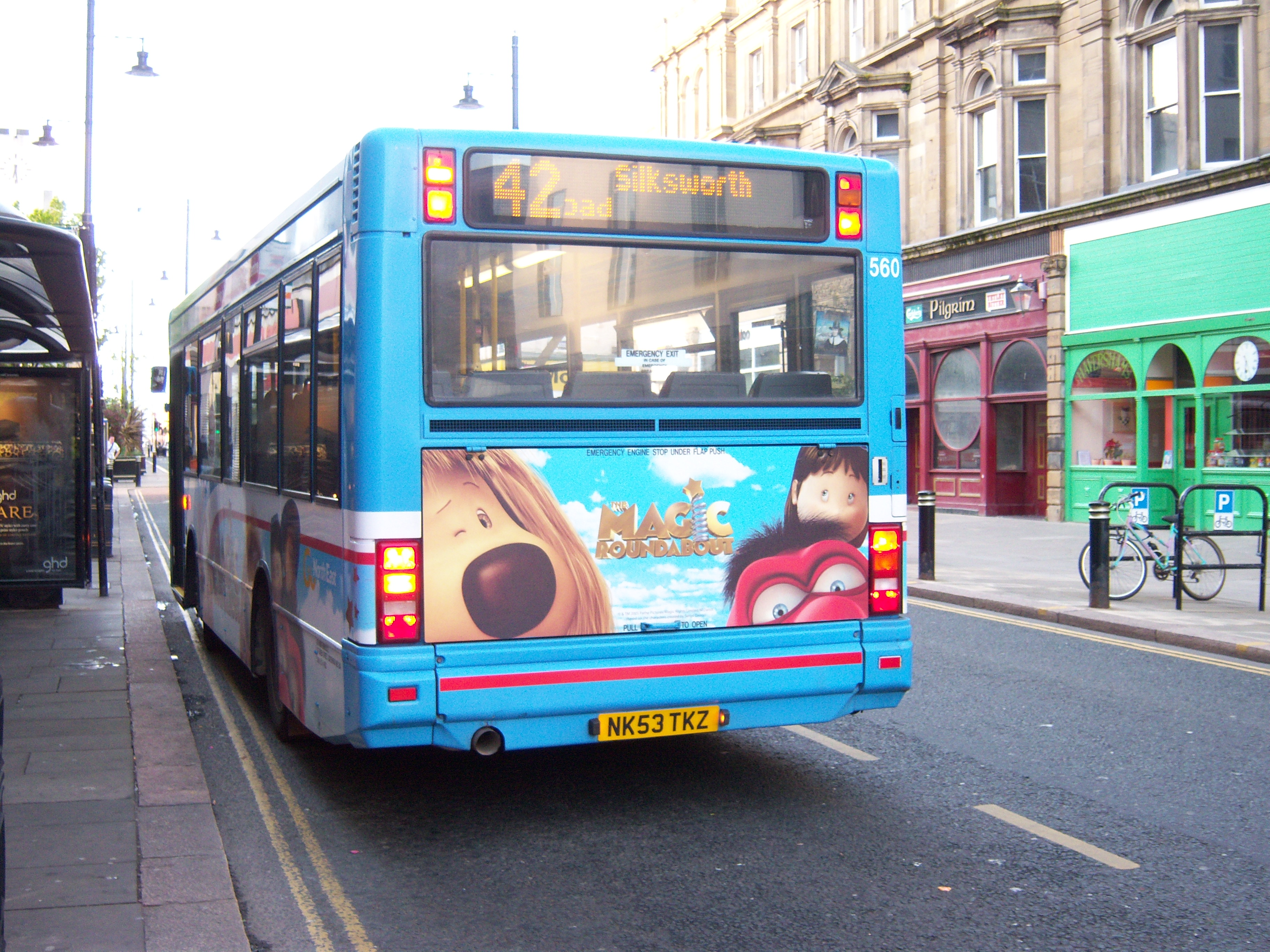 file:go north east bus 560 dennis dart mpd transbus nk53 tkz magic