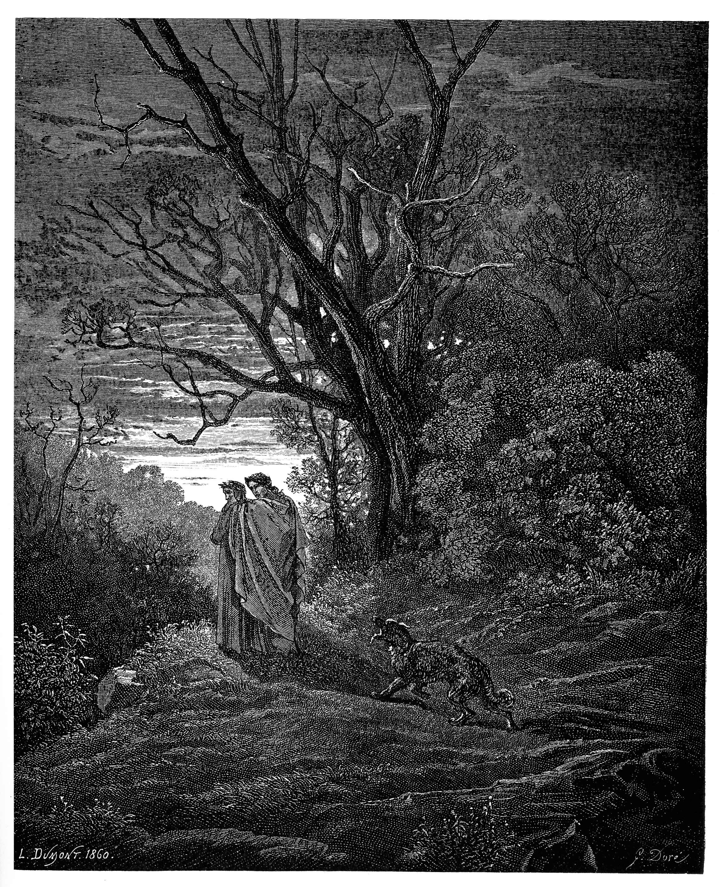 dante alighieri a poetic descent into metaphorical hell Dante alighieri (1265–1321) was a florentine poet, language theorist, and statesman he was born into a noble but impoverished family, which sided with the guelphs (who supported.