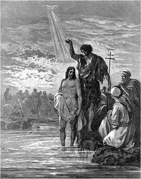 세례를 받으신 예수님 (귀스타브 도레, Gustave Dore, 1866년)