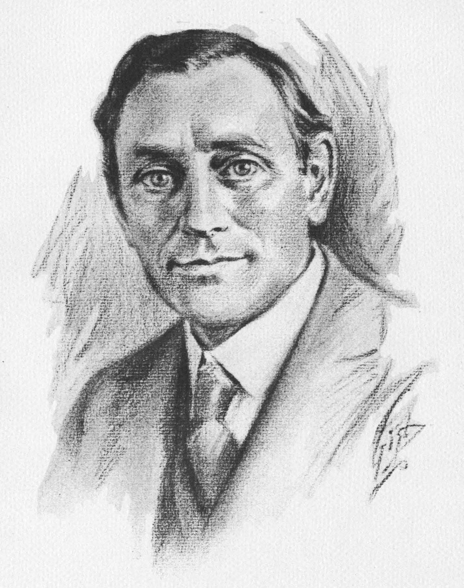 1931 drawing of Harry Bateman