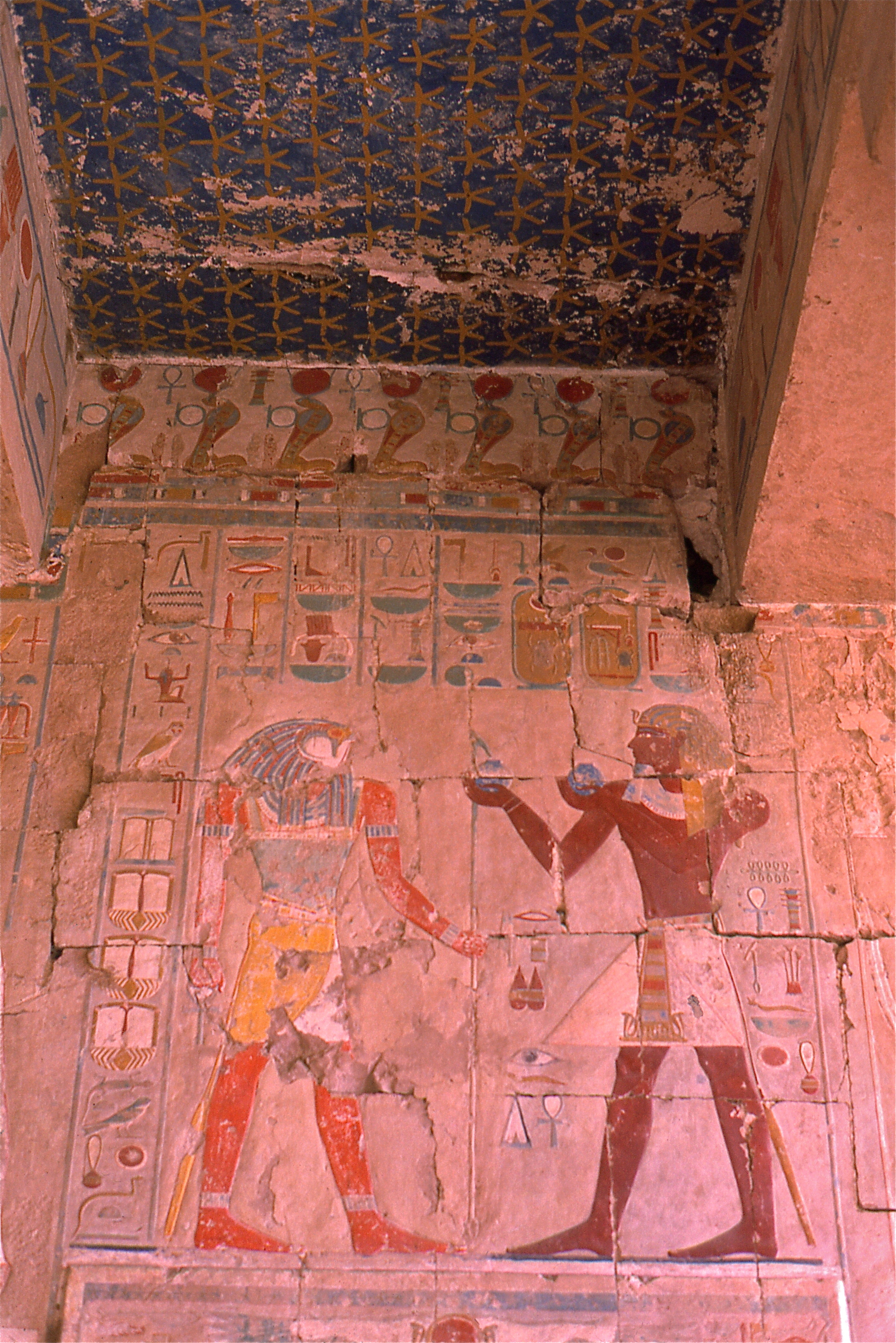 File:Hatshepsut making offerings to Horus     (35711411423