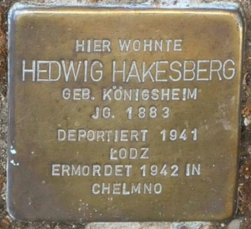 File:Hofgeismar-Stolperstein-Hedwig-Hakesberg-CTH.JPG