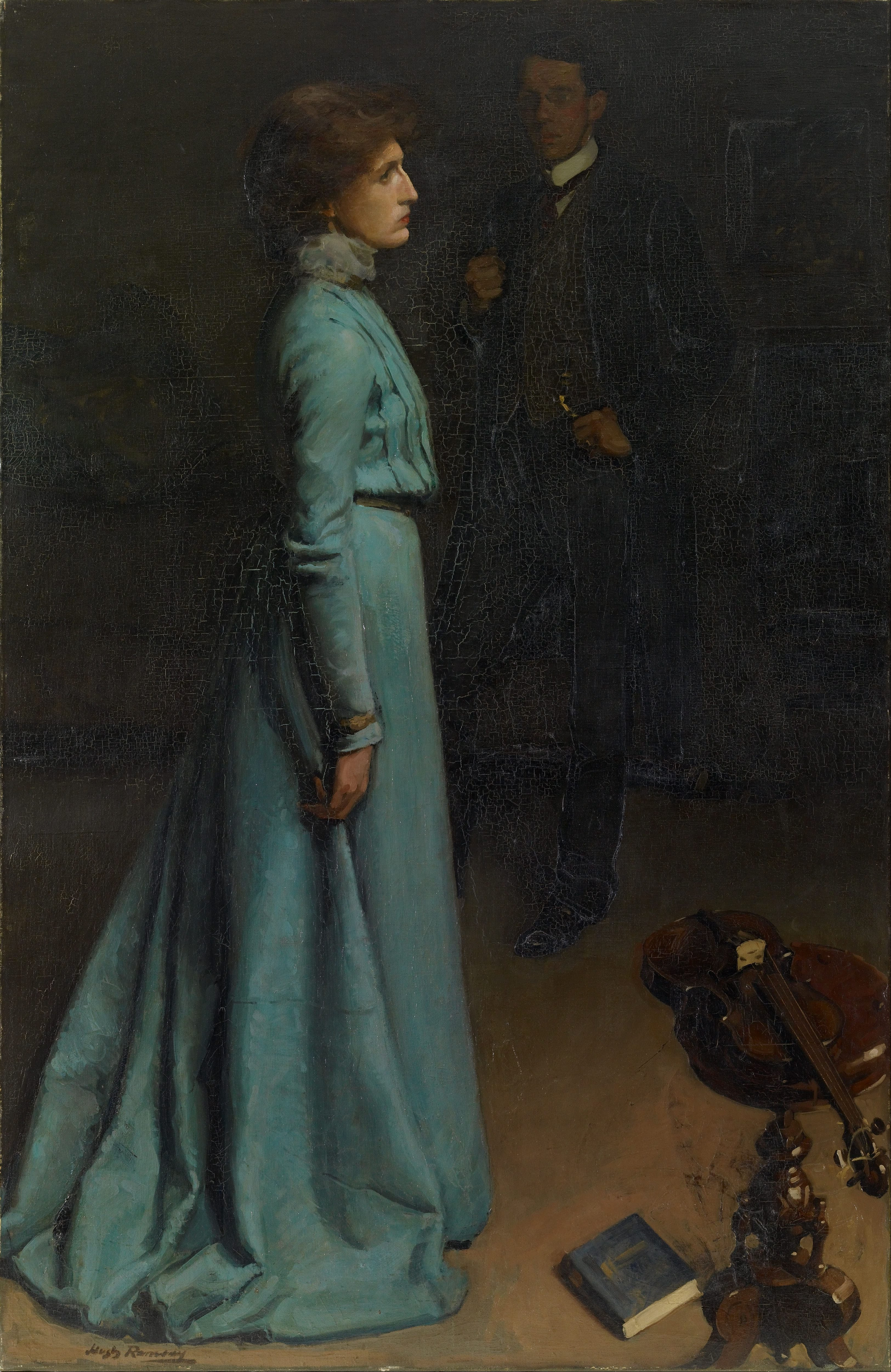 Filehugh Ramsay The Lady In Blue Mr And Mrs J S