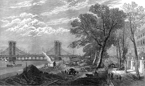 ILN Chelsea Embankment & Albert Bridge construction