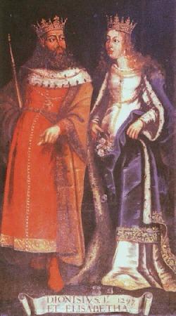 Kong Denis av Portugal og dronning Elisabeth