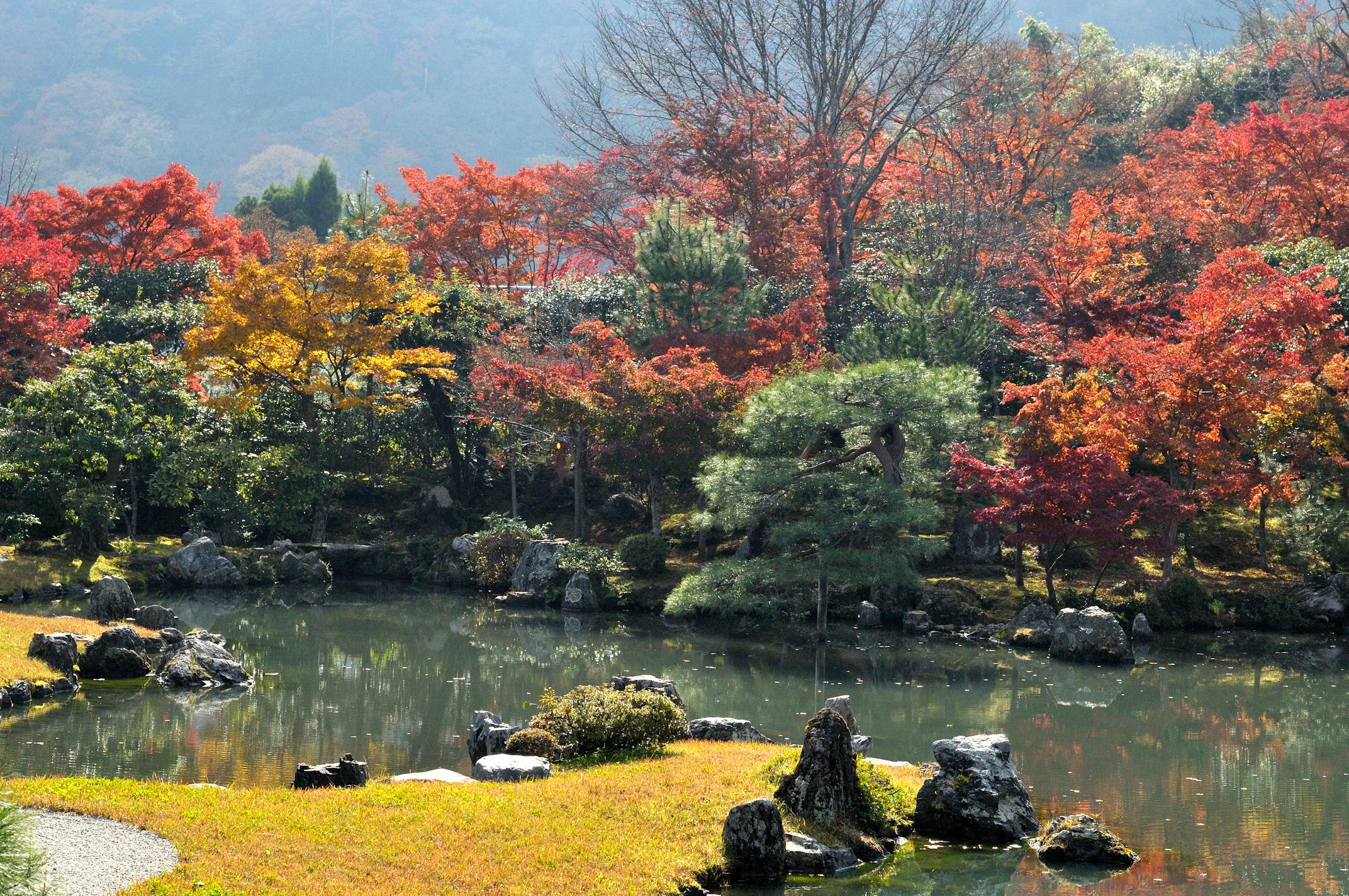 File japanese garden at tenryuji wikimedia - Jardines japoneses zen ...