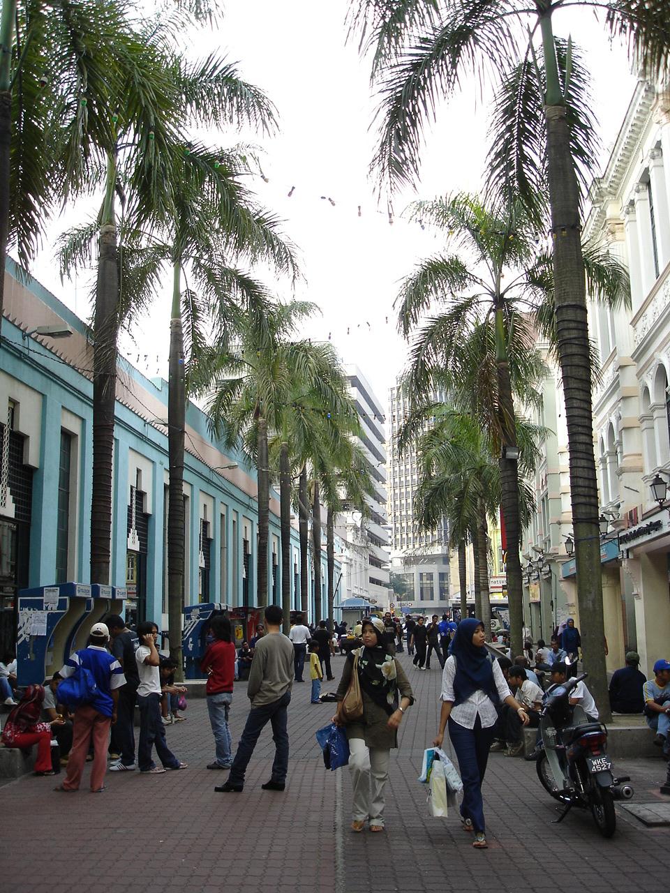 A pedestrian mall by KL's central market