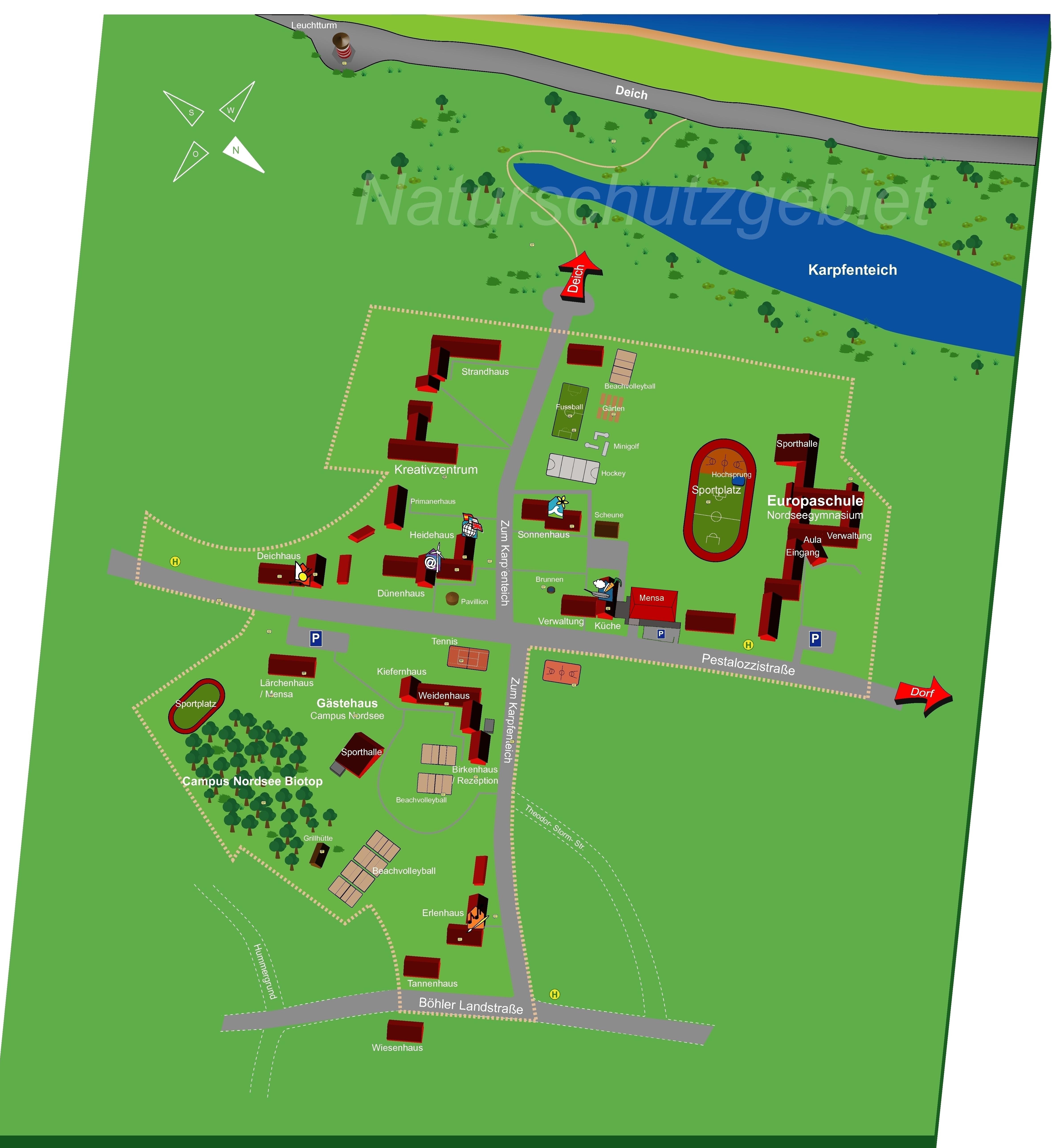 Sankt Peter Ording Karte.Nordsee Internat Wikipedia