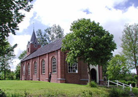 "Church of the hermitage ""Our Lady of the Enclosed Garden"" in Warfhuizen, Netherlands Kerkzomerpiep.jpg"