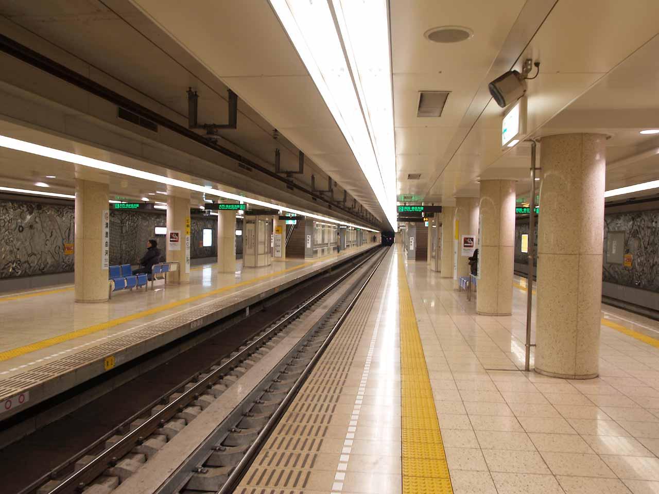 ファイル:Kiyosumi-shirakawa-station platform oedo-line.jpg
