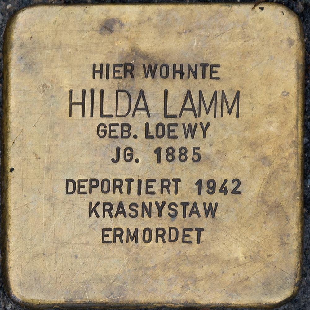 Kronach - Stolperstein Hilda Lamm (Kulmbacher Straße 21).jpg