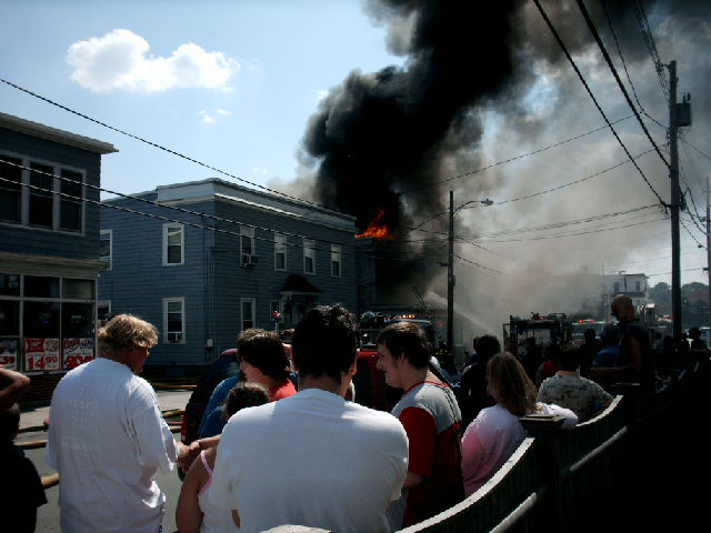 Two Story Building In Lynn Massachusetts Catches Fire