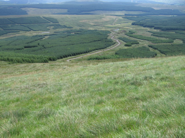 File:Looking down from Moorbrock Hill near Poltie Burn - geograph.org.uk - 225444.jpg - Wikimedia Commons