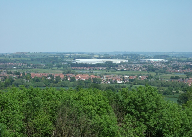 Looking north from Stafford Castle - geograph.org.uk - 1350419